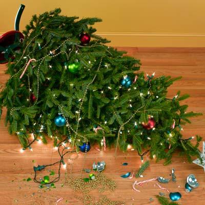 broken xmas tree