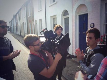 Alex on set in Whitstable